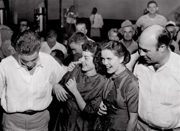 Carolyn Bryant, laughing at the legal system for nearly 60 years. Left to right: Roy Bryant, Carolyn Bryant, Juanita Milam, J.W. Milam.
